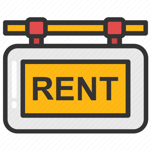for rent, house for rent, realty sign, rent signboard, renting icon