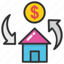 estate graph, home value, property estimation, property value, property value graph icon