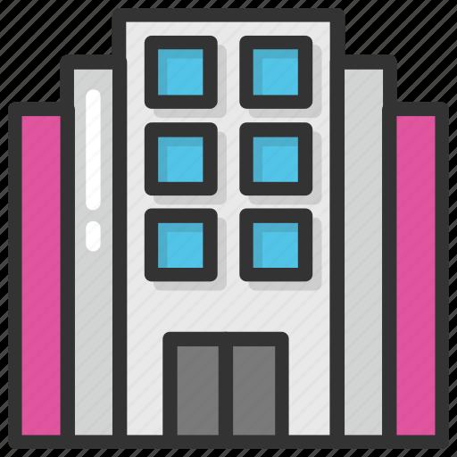 apartment blocks, apartment house, city building, commercial building, flats building icon