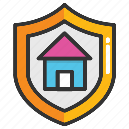 home insurance, home security concept, property insurance, property management, property protection icon