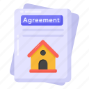 estate agreement, home agreement, home contract, property agreement, property deal icon