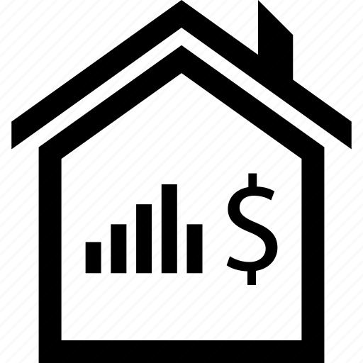 buying, dollar, house, online, sign, web icon