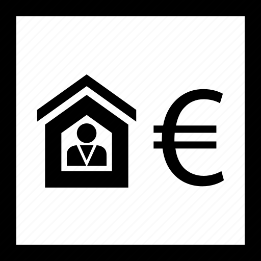 euro, home, house, sign icon