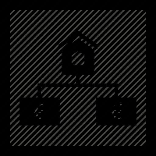 estate, euro, home, real, strategy icon