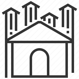 building, estate, home, house, property, real, up icon