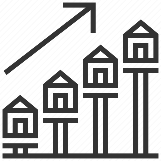 building, estate, growth, home, house, property, real icon