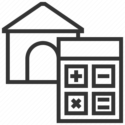 Building, calculator, estate, home, house, property, real icon - Download on Iconfinder
