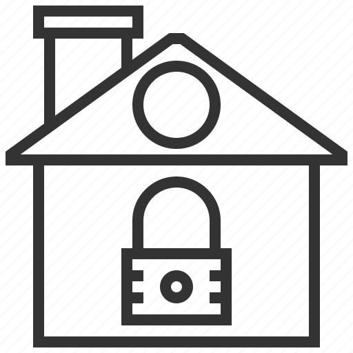 building, estate, home, house, property, real, security icon