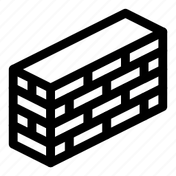 brick, bricks, building, fence, wall icon