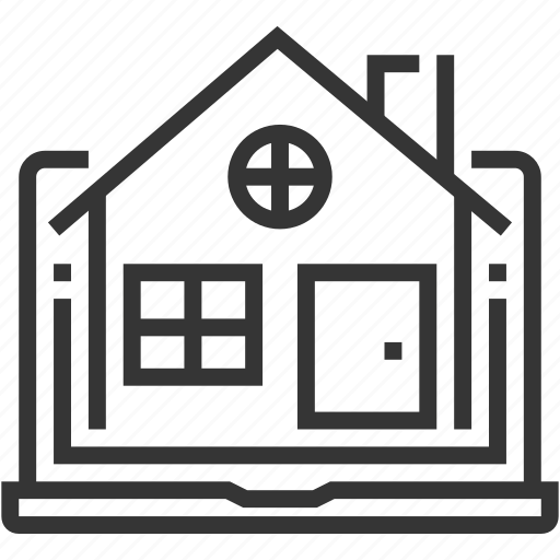 apartment, home, house, internet, real estate, search, website icon