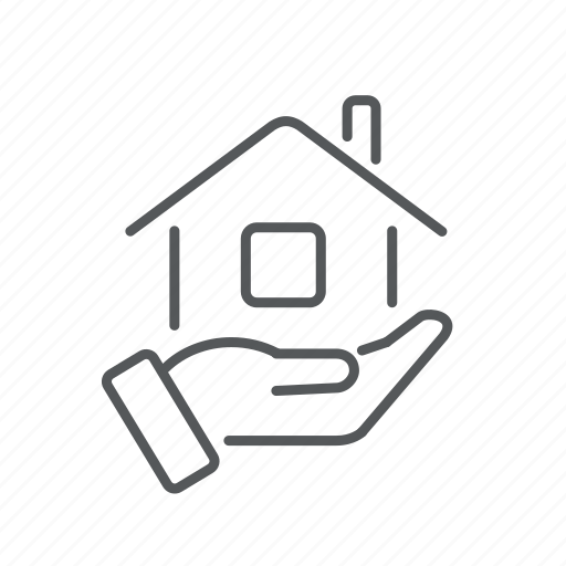 hand, house, offer, realty, rent icon