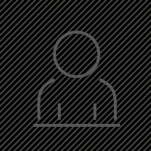 man, person, profile icon