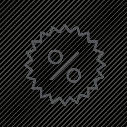 dicount, label, offer, percent, sale icon