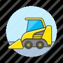 1, building, bulldozer, construction, equipment, estate, heavy, machine, real, site, tools icon