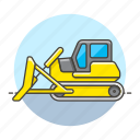 2, building, bulldozer, construction, equipment, estate, heavy, machine, real, site, tools icon