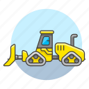 3, building, bulldozer, construction, equipment, estate, heavy, machine, real, site, tools icon