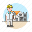 1, architects, construction, dwelling, estate, foreman, house, male, real, supervisor icon
