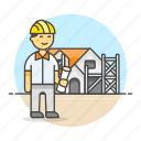2, architects, construction, dwelling, estate, foreman, house, male, real, supervisor icon