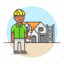 3, architects, construction, dwelling, estate, foreman, house, male, real, supervisor icon