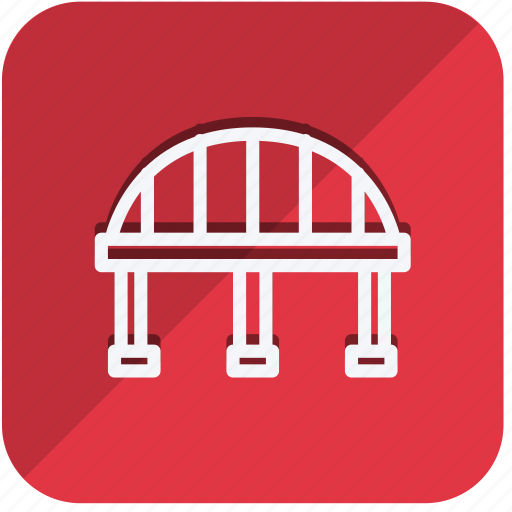 bridge, building, construction, estate, monument, property, real icon