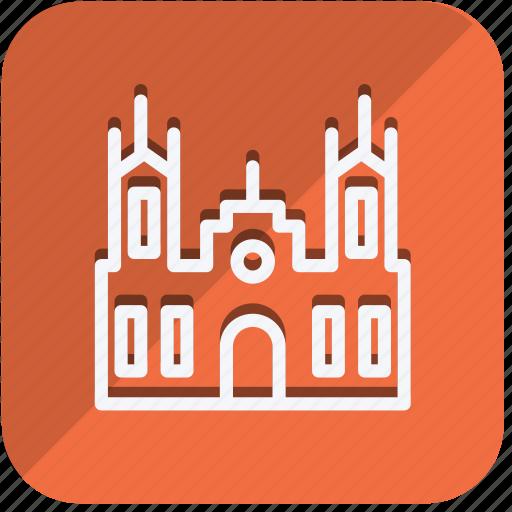 building, castle, construction, estate, holsten gate, monument, real icon