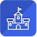 building, castle, construction, estate, monument, property, real icon
