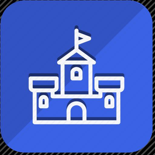 building, castle, construction, estate, monument, property, real icon