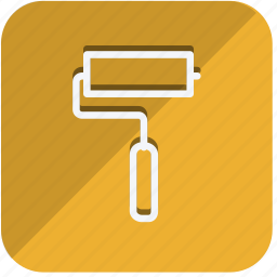 brush, building, estate, paint brush, property, real, tools icon