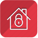building, estate, home, house, lock, property, real icon