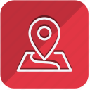 building, construction, estate, location, map, property, real icon