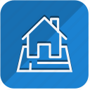 building, construction, estate, home, house, property, real icon