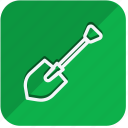 building, construction, estate, property, real, shovel, tools icon