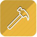 building, construction, estate, hammer, property, real, tools icon