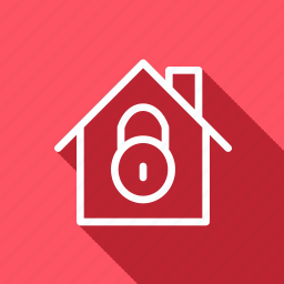 apartment, architechture, building, home, house, lock, monument icon