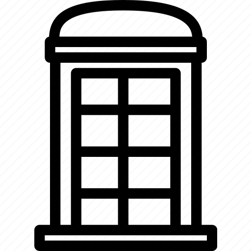 box, british, building, call, communication, property, telephone icon