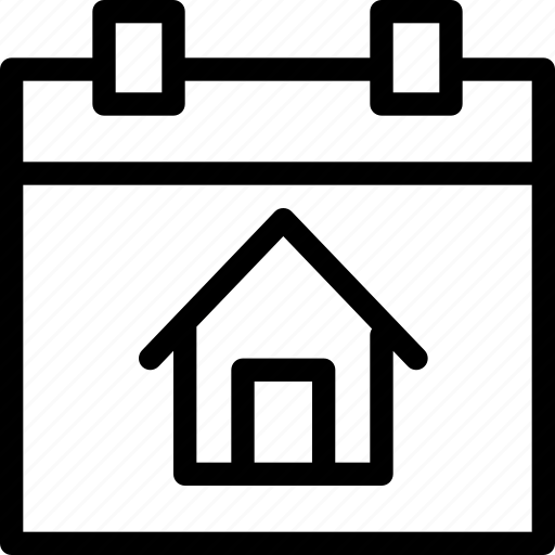 building, date, estate, property, real, schedule, time icon