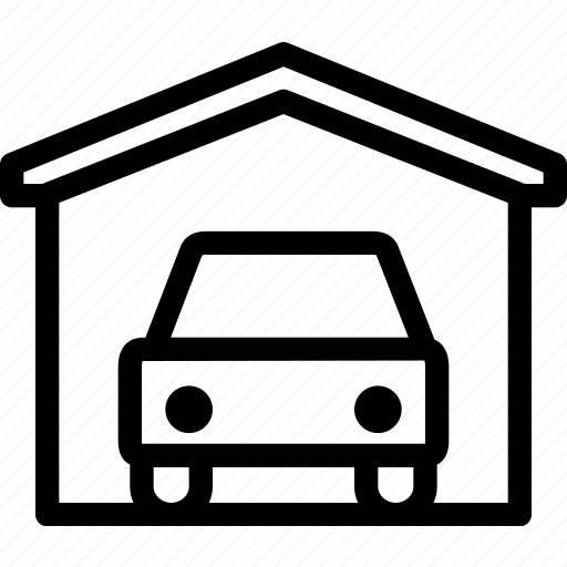 building, estate, garage, house, property, real, repair icon
