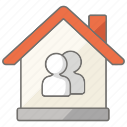 apartment, couple, house, housing, property, share, tenants icon