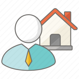 agent, auctioneer, estate, house, housing, real icon