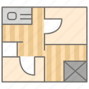 architecture, design, floor, housing, interior, plan, planning icon