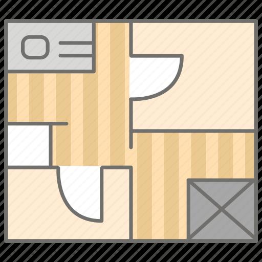 architecture, design, floor, housing, interior, plan, planning icon