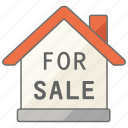 agency, estate, for, house, housing, property, sale icon