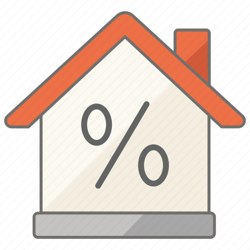 discount, estate, house, housing, percentage, rate, real icon