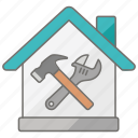 domestic, handyman, housing, repair, repairs, tools icon