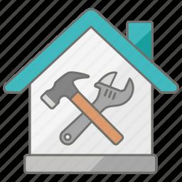 domestic, handyman, housing, repair, repairs, tools icon