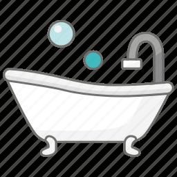 bath, bathroom, information, property, shower, tub icon