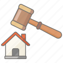 real, estate, auction, house, housing, property icon