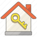 estate, house, key, locked, property, real, reserved icon