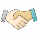agreement, contract, estate, handshake, informal, real, rental icon