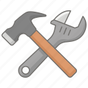 domestic, house, property, rental, repair, tools icon